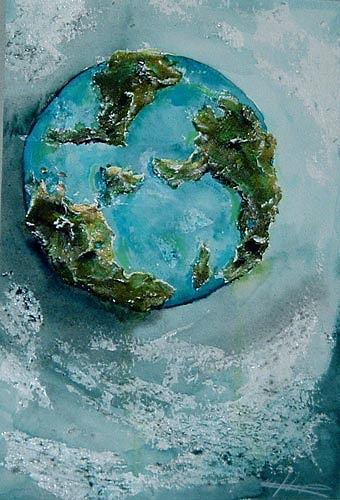Ute Heitmann, Ein blauer Planet, Miscellaneous Outer Space, Outer space: Stars, Contemporary Art