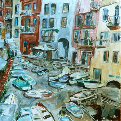 Ute Heitmann, Riomaggiore II, Architecture, Miscellaneous Buildings, Contemporary Art