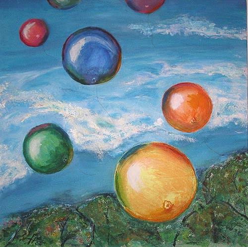 Ute Heitmann, Luftballons, Fantasy, Contemporary Art