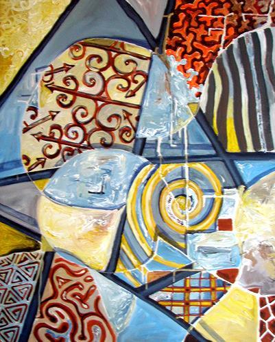 Ute Heitmann, Inlay Pattern, Abstract art, Fantasy, Contemporary Art