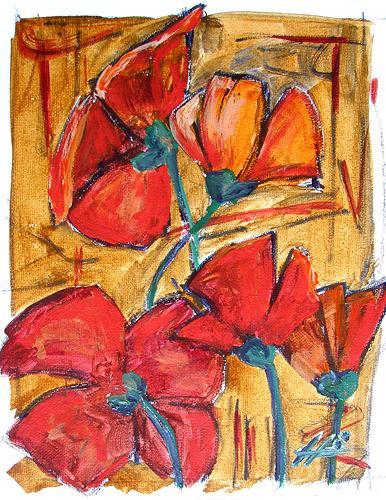 Ute Heitmann, Mohn 2008_01, Decorative Art, Plants: Flowers, Contemporary Art