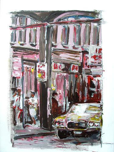 Ute Heitmann, New York, Straße, Traffic: Car, Miscellaneous Buildings, Contemporary Art