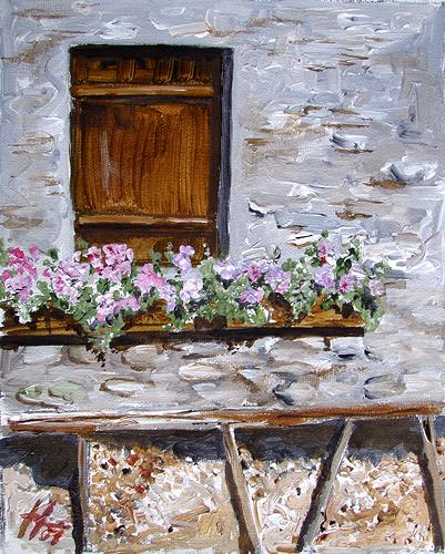 Ute Heitmann, Fenster zum Berg, Still life, Decorative Art, Contemporary Art