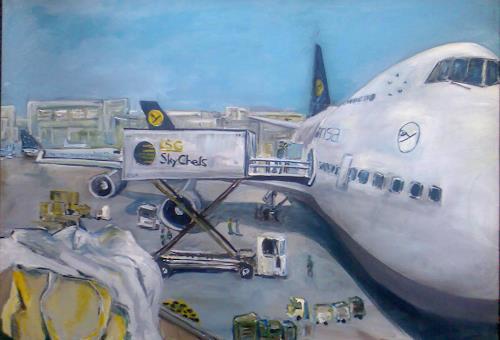 Ute Heitmann, auf geht's, The world of work, Traffic: Plane, Contemporary Art