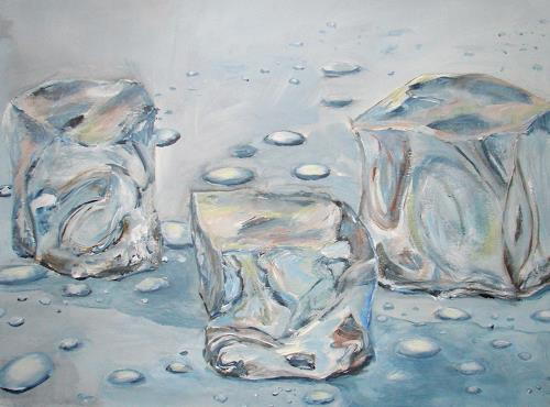 Ute Heitmann, Eiswürfel, Still life, Decorative Art, Contemporary Art, Expressionism