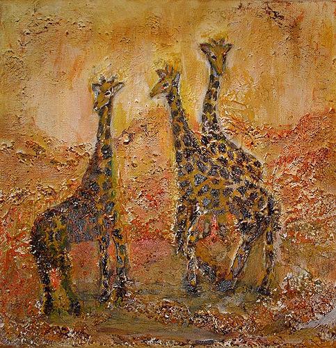 Ute Heitmann, Giraffen, Animals: Land, Contemporary Art