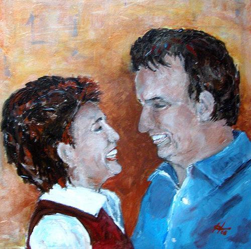 Ute Heitmann, ...und sie lieben sich doch, People: Couples, People: Portraits, Contemporary Art