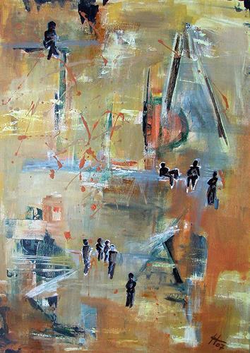 Ute Heitmann, Jazz abstrakt, Abstract art, Contemporary Art