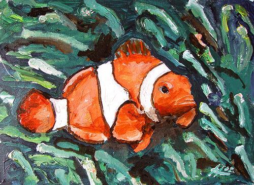 Ute Heitmann, Clownfisch, Animals: Water, Contemporary Art