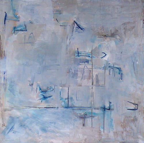 Ute Heitmann, Summerblue, Abstract art, Leisure, Contemporary Art