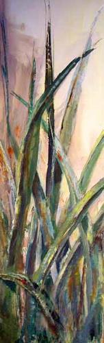 Ute Heitmann, Gras grün, Decorative Art, Miscellaneous Plants, Contemporary Art