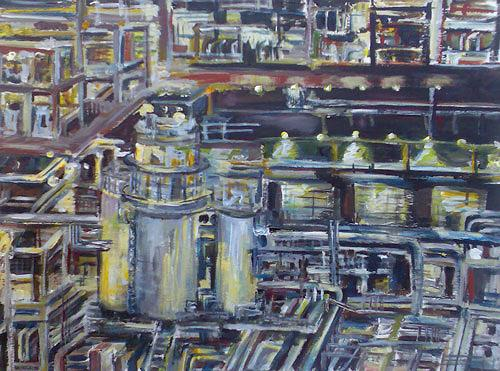 Ute Heitmann, Raffinerie, Industry  , Technology, Contemporary Art