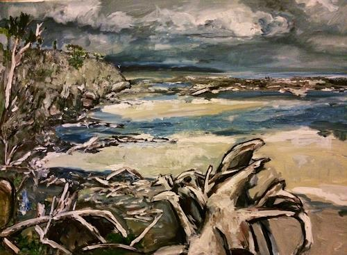 Ute Heitmann, Coast newzealand, Landscapes: Sea/Ocean, Contemporary Art, Abstract Expressionism