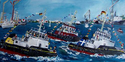 Ute Heitmann, Schlepperballett, Movement, Landscapes: Sea/Ocean, Contemporary Art