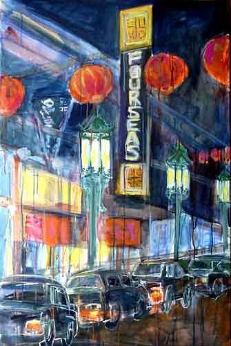 Ute Heitmann, Frisco Chinatown II, Architecture, Traffic, Contemporary Art