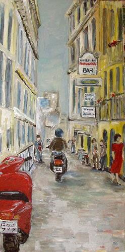 Ute Heitmann, Straße Italien, Traffic: Motorcycle, Situations