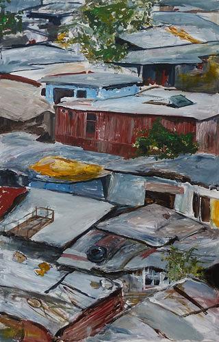 Ute Heitmann, Township Südafrika, Miscellaneous Buildings, Society, Contemporary Art