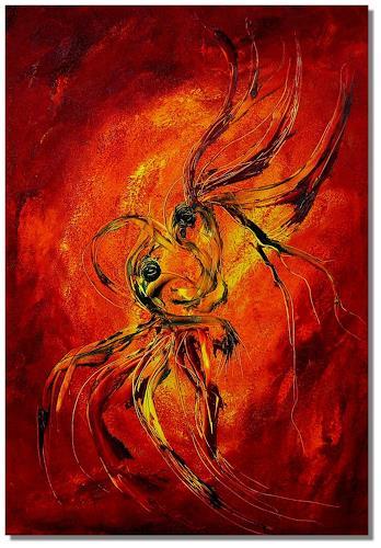 Ruth Batke, and angels dance, Abstract art