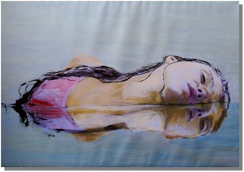 Ruth Batke, metallic girl, Miscellaneous, Miscellaneous Erotic motifs, Expressionism
