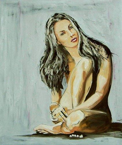 Ruth Batke, Her picture, Erotic motifs: Female nudes, Contemporary Art, Expressionism