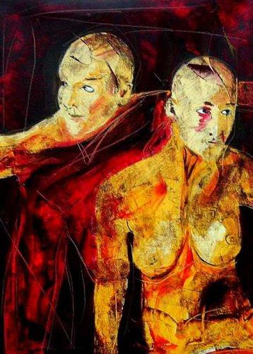 Ruth Batke, Laura and Liane 1, Miscellaneous, Contemporary Art, Expressionism