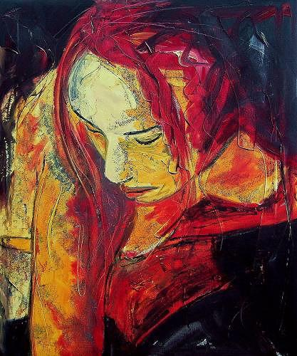 Ruth Batke, Mor, People: Women, Miscellaneous Emotions, Contemporary Art, Expressionism