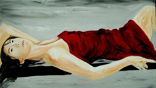 Ruth Batke, waiting for sunshiny days, People: Women, Miscellaneous Emotions, Contemporary Art