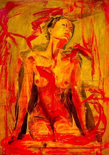 Ruth Batke, o.T., Erotic motifs: Female nudes, Miscellaneous Emotions, Contemporary Art, Expressionism
