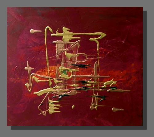 Ruth Batke, liquid gold, Abstract art