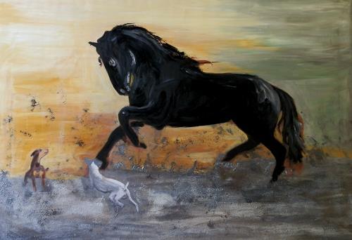 Ruth Batke, fantasy world, Abstract art, Animals: Land, Abstract Art