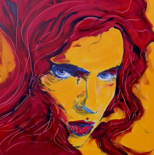 Ruth Batke, Feuerkopf, People: Women, Abstract Art