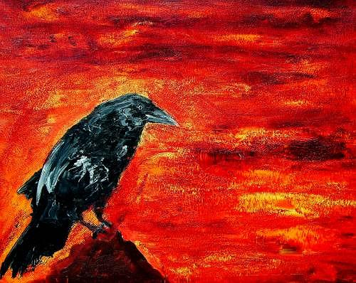 Ruth Batke, the messenger 3, Mythology, Contemporary Art