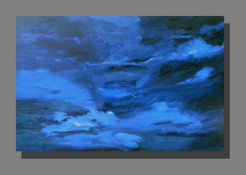 Ruth Batke, So blue, Abstract art