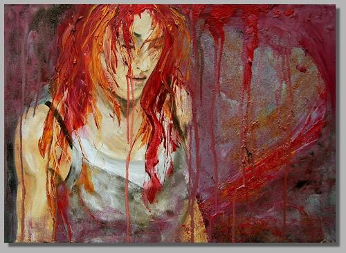 Ruth Batke, Tired of fighting, Emotions: Aggression, Emotions: Depression, Contemporary Art