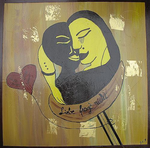 Brigitte Holzinger, Liebe fragt nicht II, Miscellaneous Erotic motifs, Contemporary Art
