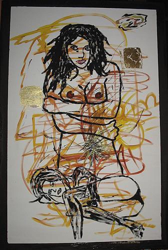 Brigitte Holzinger, LIONIE, Erotic motifs: Female nudes, Miscellaneous Erotic motifs, Contemporary Art