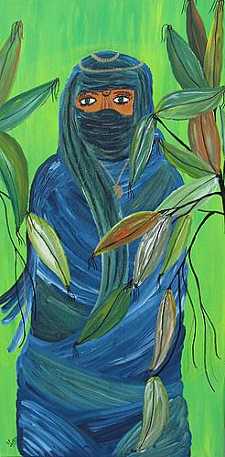 Brigitte Holzinger, BEDUININ, People: Women, Fantasy, Contemporary Art