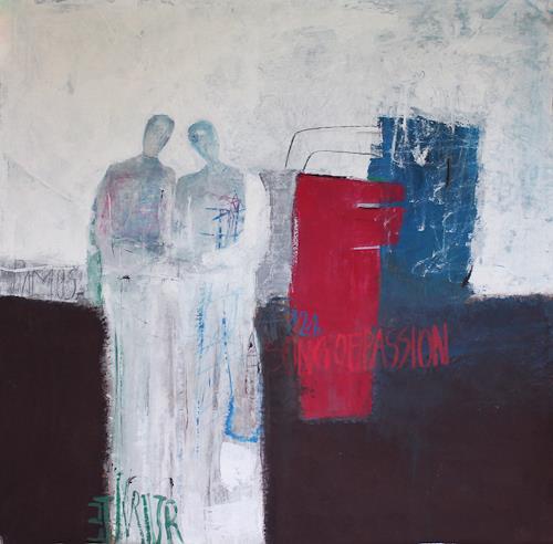 Sigrid Arnold Heinlein, Liebespaar, Abstract art, Expressionism