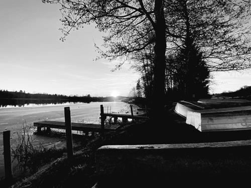 Dominique März, Lake, Landscapes, Abstract Art