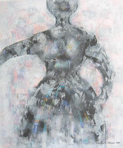 Friedhard Meyer, beschwingt, People: Women, Emotions: Joy, Contemporary Art