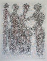 Friedhard-Meyer-People-Group-Emotions-Joy-Contemporary-Art-Contemporary-Art