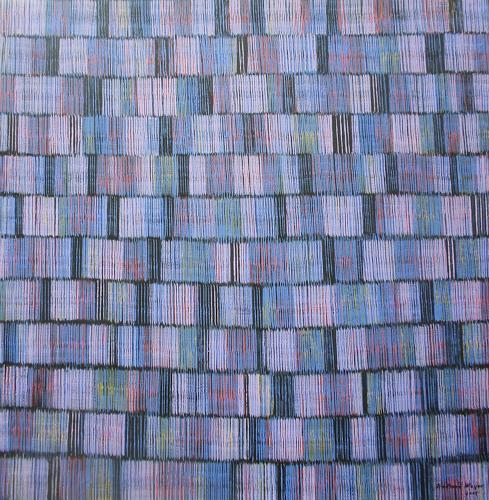 Friedhard Meyer, Farbzone Flieder, Abstract art, Decorative Art, Contemporary Art