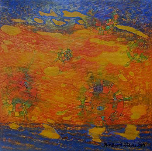 Friedhard Meyer, Sky Wheels 5, Fantasy, Miscellaneous Romantic motifs, Contemporary Art