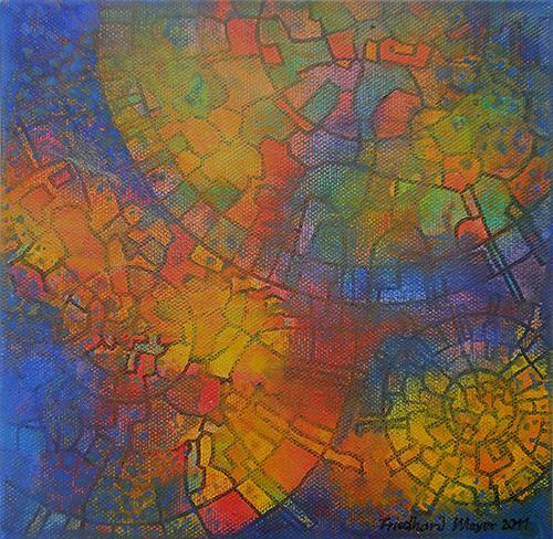 Friedhard Meyer, Sky Wheels 6, Fantasy, Miscellaneous Romantic motifs, Contemporary Art