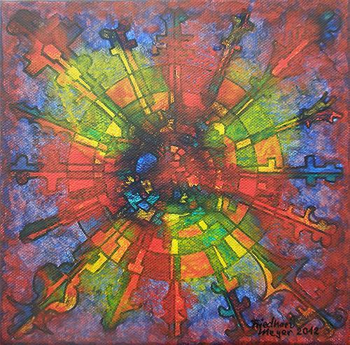 Friedhard Meyer, Mandala 6, Poetry, Fantasy, Contemporary Art