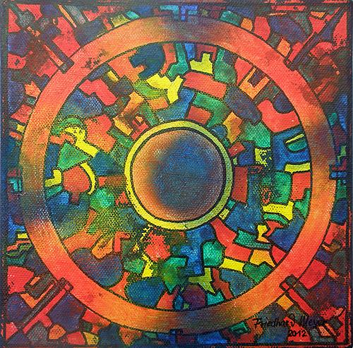 Friedhard Meyer, Mandala 7, Poetry, Fantasy, Contemporary Art