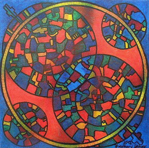 Friedhard Meyer, Mandala 9, Poetry, Fantasy, Contemporary Art