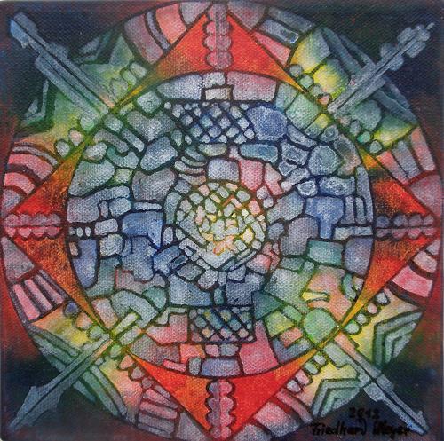 Friedhard Meyer, Mandala 10, Fantasy, Poetry, Contemporary Art
