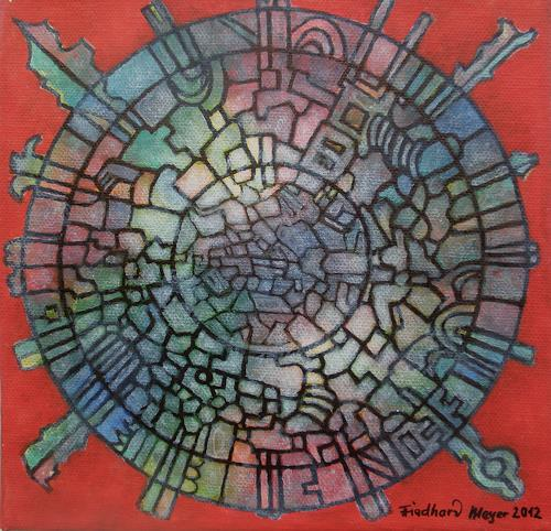 Friedhard Meyer, Mandala 4, Fantasy, Miscellaneous Romantic motifs, Contemporary Art