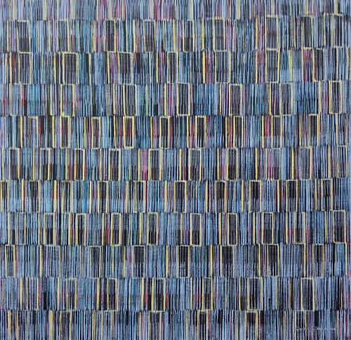 Friedhard Meyer, Binärcode, Abstract art, Decorative Art, Contemporary Art